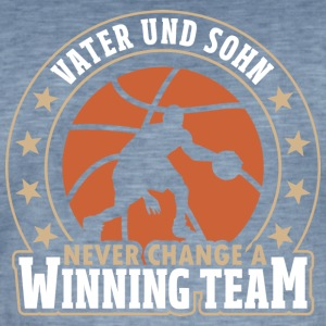 Father and Son - Never Change A Winning Team - Men's Vintage T-Shirt