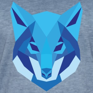 Wolf Low Polygon - Männer Vintage T-Shirt