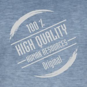 Stempel: High Quality Human Resources - Herre vintage T-shirt