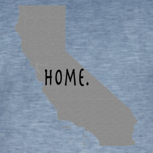 Calif Home. - Vintage-T-skjorte for menn