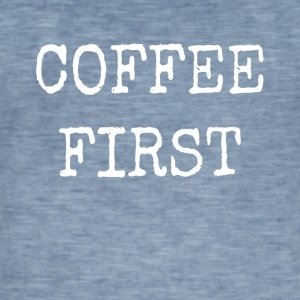 kAFFE FIRST - Herre vintage T-shirt