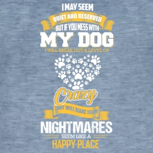 MY DOG - Vintage-T-skjorte for menn