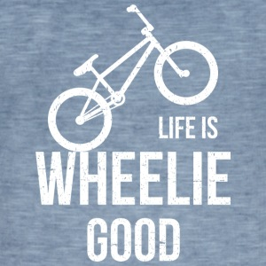 Life Is Wheelie Good - Männer Vintage T-Shirt