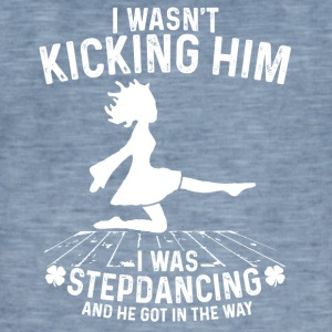 Stepdancing - Vintage-T-skjorte for menn