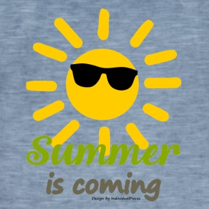 SummerIsComing - Vintage-T-skjorte for menn