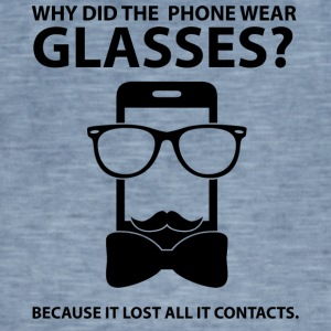 Opticians: Why Did The Phone Wear Glasses? Because - Men's Vintage T-Shirt