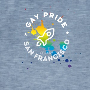 Gay San Francisco csd Pride Festival rocket spritz - Men's Vintage T-Shirt