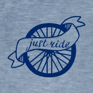 Cykling: Just Ride - Herre vintage T-shirt