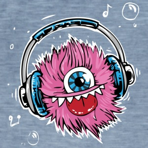 Pink Monster - Vintage-T-shirt herr