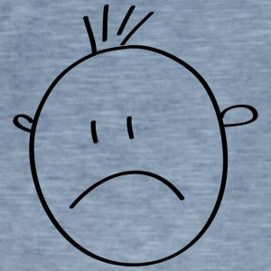 sad Smilie - Vintage-T-shirt herr