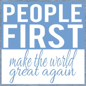 people first - make the world great again - Männer Vintage T-Shirt