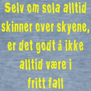 Fritt fall gul - Vintage-T-skjorte for menn