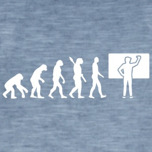 Evolution Teacher Teacher School White - Men's Vintage T-Shirt