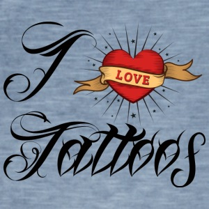 Tattoo / Tätowierung: I Love Tattoos - Männer Vintage T-Shirt
