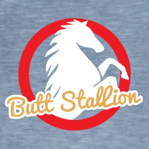 Häst / Farm: Butt Stallion - Vintage-T-shirt herr