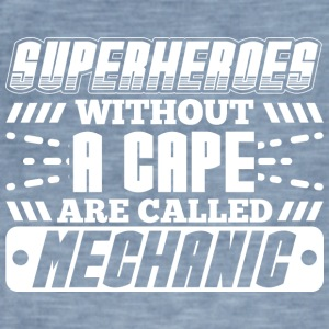 Super helte MECHANIC - Herre vintage T-shirt