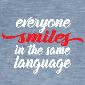 Everyone smiles - Männer Vintage T-Shirt