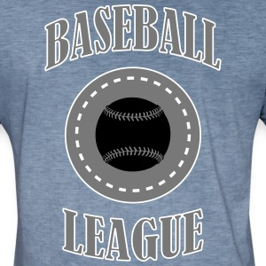 BASEBALL LEAGUE - Männer Vintage T-Shirt