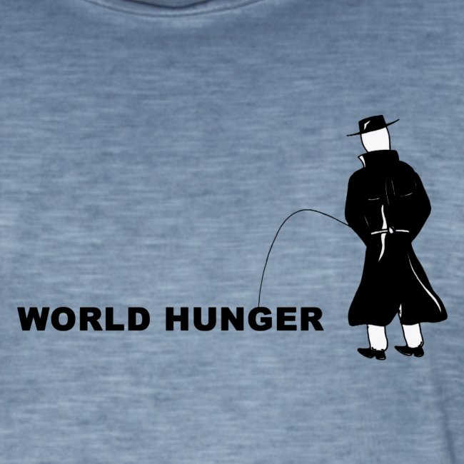 Pissing Man against World Hunger