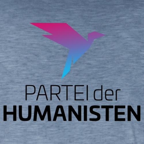 Statement Logo beidseitig - Männer Vintage T-Shirt