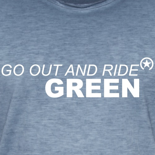 jeździć zielono - Koszulka męska vintage