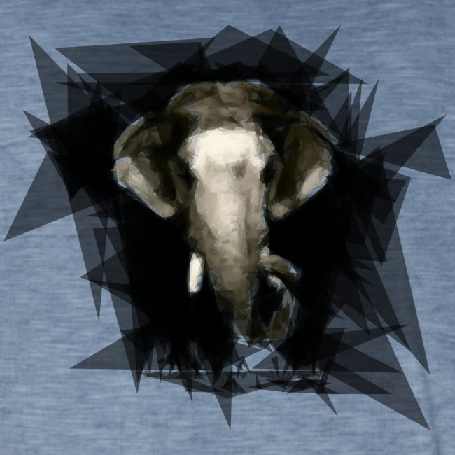 Angry elephant