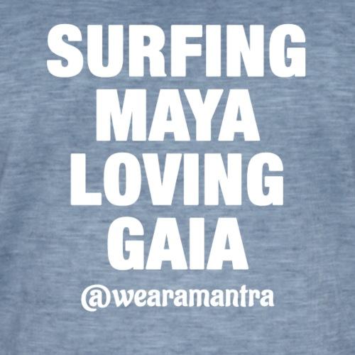 SURFING MAYA LOVING GAIA - Maglietta vintage da uomo