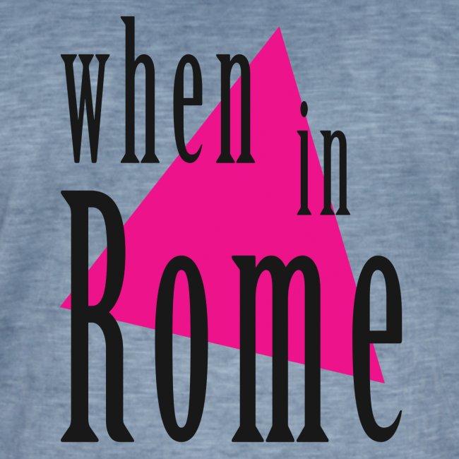 When in Rome..