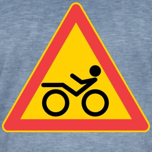 Traffic sign Recumbent - Miesten vintage t-paita