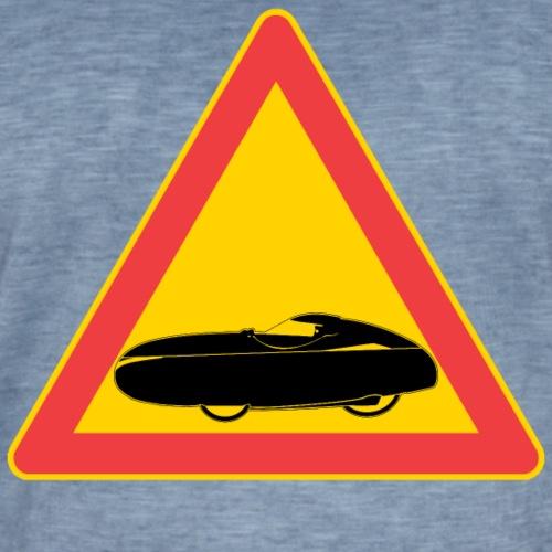 Traffic sign velomobile - Miesten vintage t-paita
