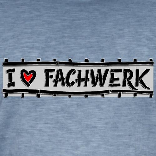 I love FACHWERK stud - Mannen Vintage T-shirt