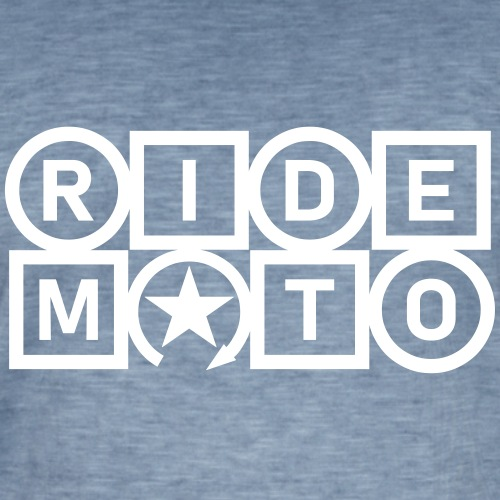 jeździć moto - Koszulka męska vintage