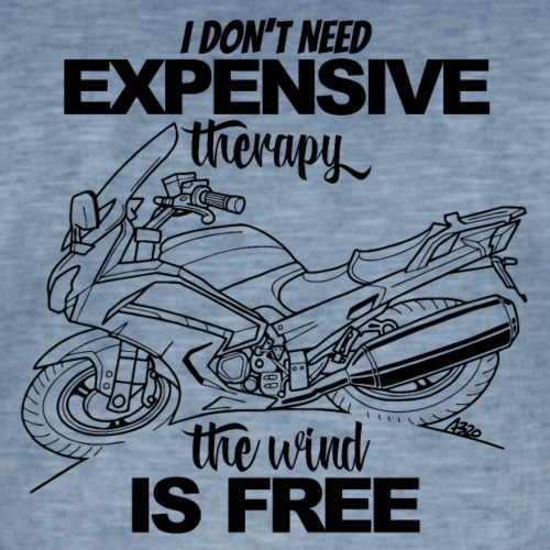 0881 FJR wind is free - Mannen Vintage T-shirt