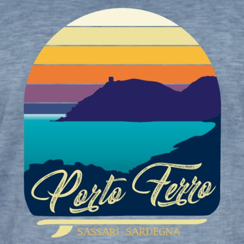Porto Ferro - Vintage travel sunset - Maglietta vintage da uomo