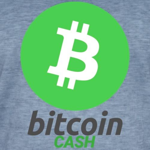 Bitcoin Cash - Vintage-T-shirt herr