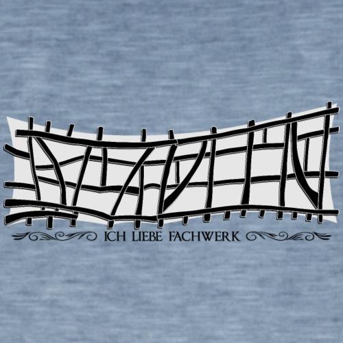 Ich liebe fachwerk voor op NIETzwart - Mannen Vintage T-shirt