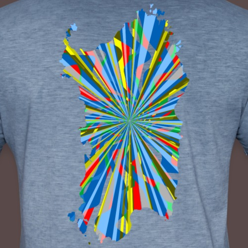 Sardegna Esplosione di Colori - Maglietta vintage da uomo