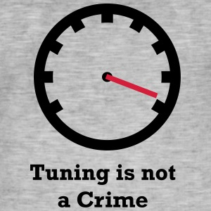 Tuning is geen Misdaad - Mannen Vintage T-shirt
