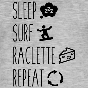 Sleep surf raclette repeat - T-shirt vintage Homme