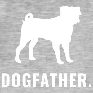 Pug - Dogfather - Mannen Vintage T-shirt