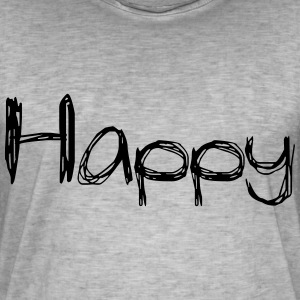 happy2 - Vintage-T-shirt herr