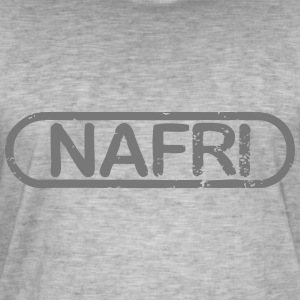 NAFRI Stamp - Vintage-T-skjorte for menn
