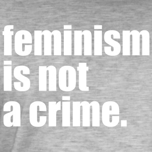 feminisme is geen misdaad - Mannen Vintage T-shirt