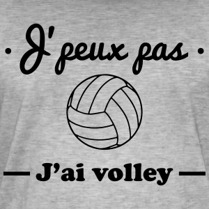 J'peux pas j'ai volley, volleyball - T-shirt vintage Homme