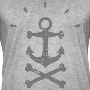Pirate Anchor black - Vintage-T-shirt herr