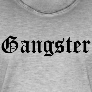 gangster - Vintage-T-skjorte for menn