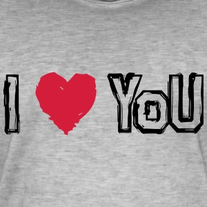 I LOVE U - Men's Vintage T-Shirt