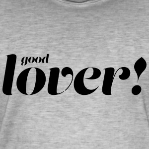 god Lover - Vintage-T-skjorte for menn