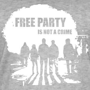 Free party is not a crime - Men's Vintage T-Shirt