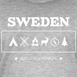 Sweden Outdoor Adventure Symbols - Men's Vintage T-Shirt